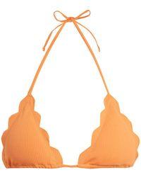 Marysia Swim - Broadway Scallop-edged Triangle Bikini Top - Lyst