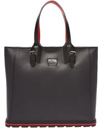 Christian Louboutin - Kabiker Grained Leather Tote - Lyst