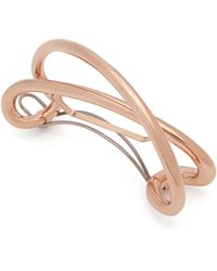 Charlotte Chesnais - Initial Rose Gold-plated Hair Clip - Lyst