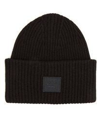 Acne Studios - Pansy S Face Ribbed-knit Beanie - Lyst