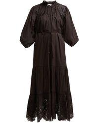 Apiece Apart Granada Broderie Anglaise Cotton Midi Dress