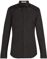 Givenchy - Star Embroidered Poplin Shirt - Lyst