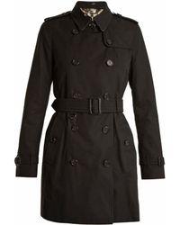 Burberry | Kensington Mid-length Gabardine Trench Coat | Lyst