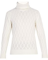 Inis Meáin - Trellis Cable Knit Wool Jumper - Lyst