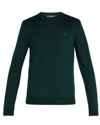 Dolce & Gabbana - Virgin-wool Crew-neck Sweater - Lyst