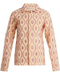 Marni - Embroidered-eyelet Taffeta Jacket - Lyst