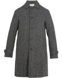 Oliver Spencer - Beaumont Point-collar Checked-wool Coat - Lyst