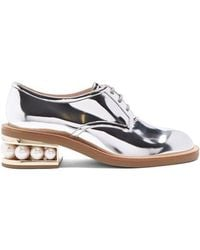 Nicholas Kirkwood - Casati Pearl-heeled Patent-leather Derby Shoes - Lyst