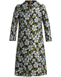 Dolce & Gabbana - Single-breasted Floral-jacquard Coat - Lyst
