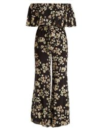 a9359bf48331 Athena Procopiou - Wild Grace Off The Shoulder Silk Jumpsuit - Lyst