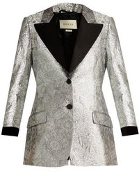 Gucci - Floral-brocade Single-breasted Blazer - Lyst