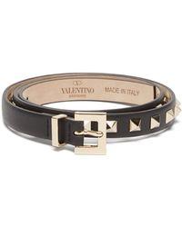 Valentino - Rockstud Leather Belt - Lyst