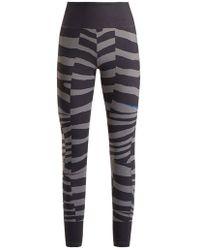 adidas By Stella McCartney - Train Miracle Tiger Stripe-print Leggings - Lyst