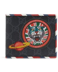 17a09b0c4afb27 Lyst - Saint Laurent Patch-embellished Wallet in Black for Men