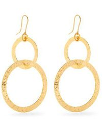 Sylvia Toledano - Textured Gold-plated Hoop Drop Earrings - Lyst