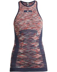 adidas By Stella McCartney - Yoga Seamless Space-dye Tank Top - Lyst