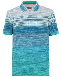 Missoni - Striped Short-sleeve Polo Top - Lyst