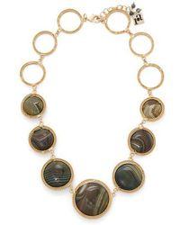 Rosantica By Michela Panero - Scarabeo Teardrop Stone Necklace - Lyst