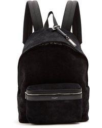 Saint Laurent - Classic Suede Backpack - Lyst