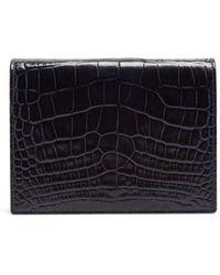 Smythson - Mara Crocodile-effect Leather Bridge Card Case - Lyst