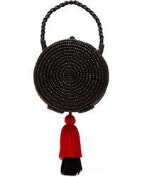 Sensi Studio - Tasselled Straw Basket Bag - Lyst
