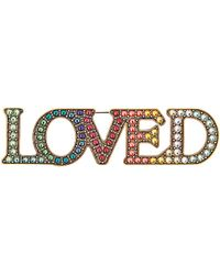 Gucci | Loved Crystal-embellished Brooch | Lyst