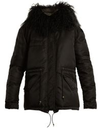 Mr & Mrs Italy - Shearling-lined Padded Field Jacket - Lyst