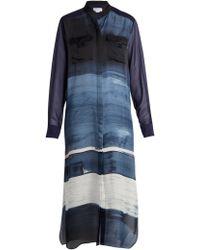 Amanda Wakeley - Painterly Silk-satin Shirtdress - Lyst