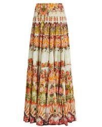 Camilla - - Samba Salada Tiered Maxi Skirt - Womens - Orange Multi - Lyst