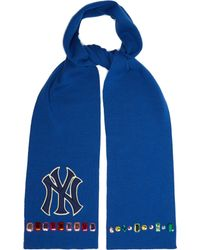 Gucci - Ny Yankees Crystal Embellished Wool Scarf - Lyst