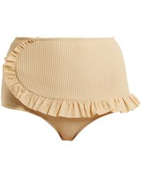 Made By Dawn - Traveller Ruffle-trimmed Bikini Briefs - Lyst