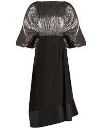 Loewe - Bi-colour Cocoon-sleeved Dress - Lyst