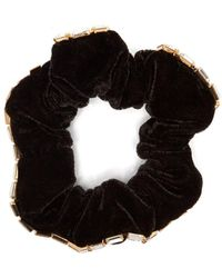 Rosantica By Michela Panero - Luci Velvet And Crystal Embellished Scrunchie - Lyst