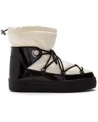 Moncler - Ynnaf Nylon And Patent-leather Aprés-ski Boots - Lyst