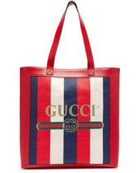 Gucci - Striped Large Tote Bag - Lyst