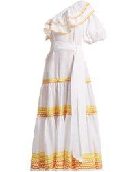 Lisa Marie Fernandez - Arden One-shoulder Ric-rac Trim Dress - Lyst