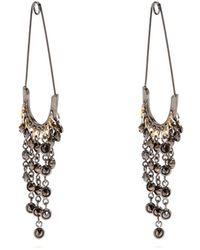 Sonia Rykiel - Safety Pin Drop Earrings - Lyst