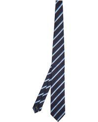 Ermenegildo Zegna - Striped Silk Tie - Lyst