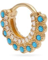 Maria Tash - Diamond, Opal And Gold Single Earring - Lyst