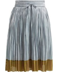 RED Valentino - Colour-block Pleated Skirt - Lyst