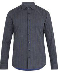 Etro - Striped Single-cuff Cotton Shirt - Lyst