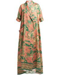 Chufy - Desta Safari-print Linen Robe - Lyst