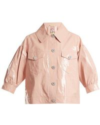 Shrimps - Luca Puff-sleeved Cropped Jacket - Lyst