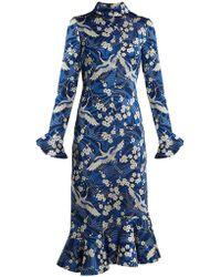 Erdem - Alta Japanese Floral Print Jersey Dress - Lyst