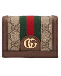 Gucci - Ophidia Gg Supreme Leather Wallet - Lyst