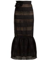 Zimmermann - Corsage Lace Insert Linen Skirt - Lyst