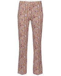 Giambattista Valli - Abstract-print Cropped Flared Trousers - Lyst