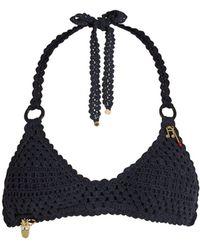 Stella McCartney - Crochet Halterneck Bikini - Lyst