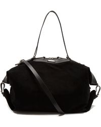 Saint Laurent - Suede Leather-trimmed Holdall - Lyst