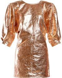 Isabel Marant - Nadella Metallic Leather Mini Dress - Lyst